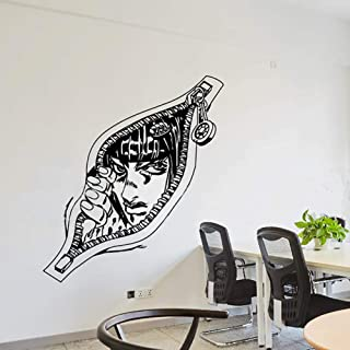 QAQ JoJo's Bizarre Adventure Wall Decals,Japanese Anime Posters Decor Vinyl Stickers Wall Decor Bruno Bucciarati Multicolor-b 117x120cm(46x47inch)