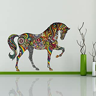 ufengke Colorful Pattern Horse Fashion Design Wall Decals, Living Room Bedroom Removable Wall Stickers Murals