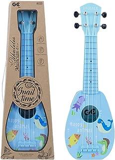 YOLOPLUS+ Kids Ukulele Guitar Toy Simulation 4 Strings Children Musical Instruments Educational Learning for Toddler Beginner Keep Tone Anti-Impact (17 Inch Blue)