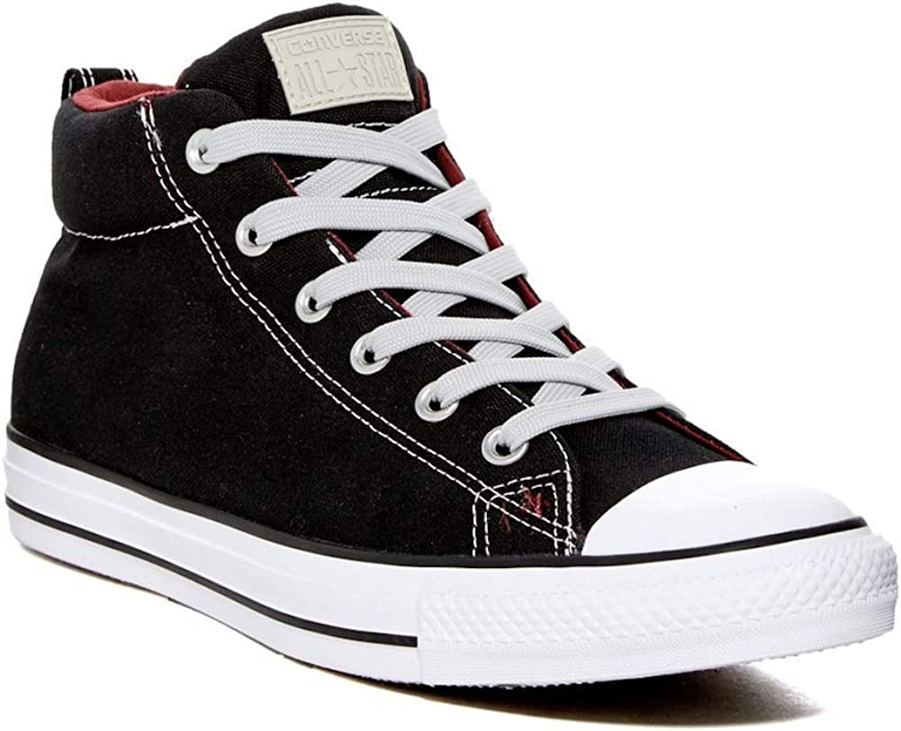 Converse Men's Chuck Taylor Street Shoes security Mid Sneaker Fort Worth Mall Black 11
