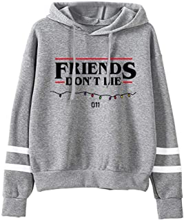 Stranger TV Show Friends Don't Lie Upside Down Hoodie Sweater Sweatshirt Pullover