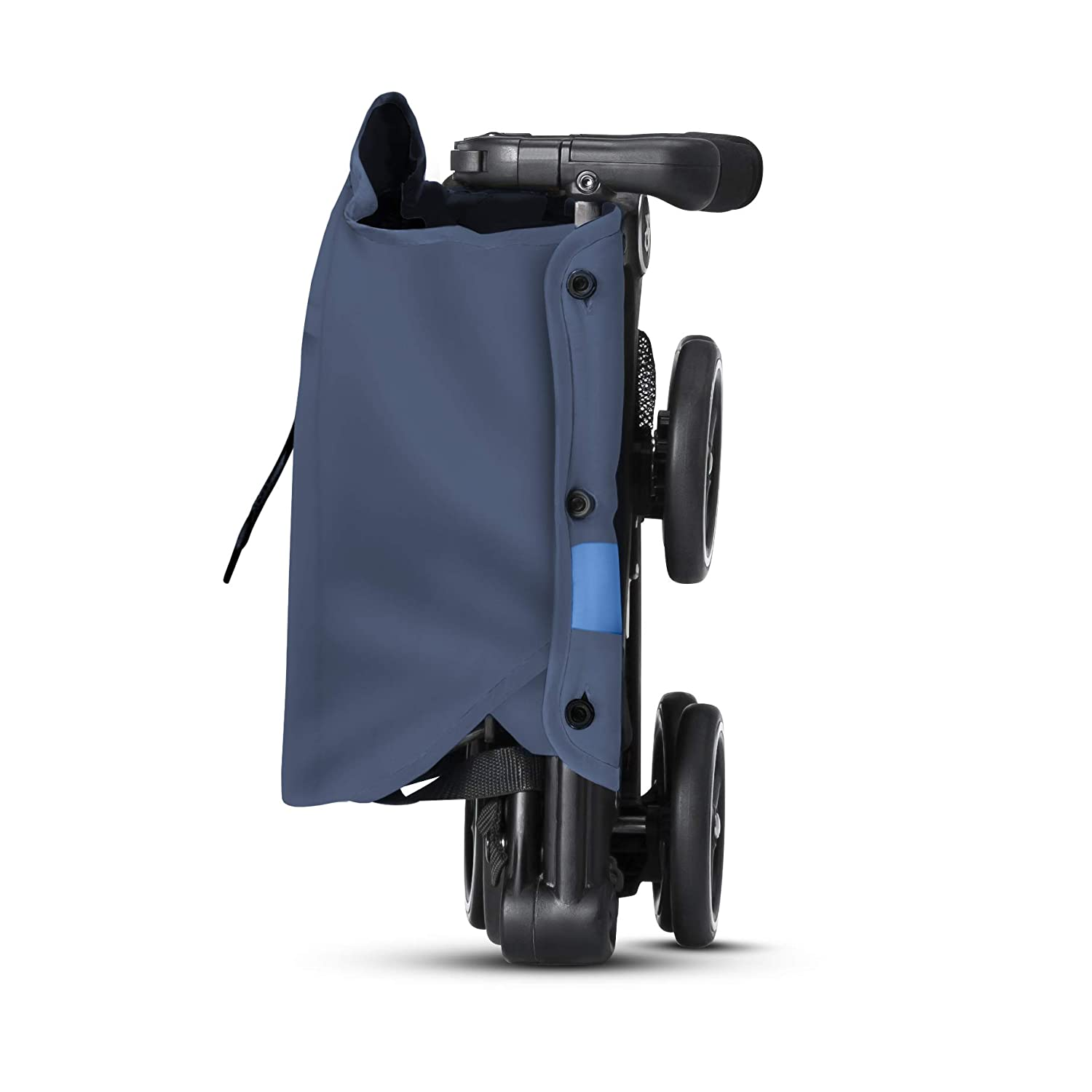 gb Pockit+ All-Terrain, Ultra Compact Lightweight Travel Stroller with Canopy and Reclining Seat in Night Blue, 10.6 pounds