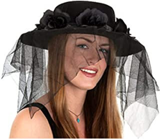 Jacobson Hat Company Black Spanish Hat with Veil,One Size