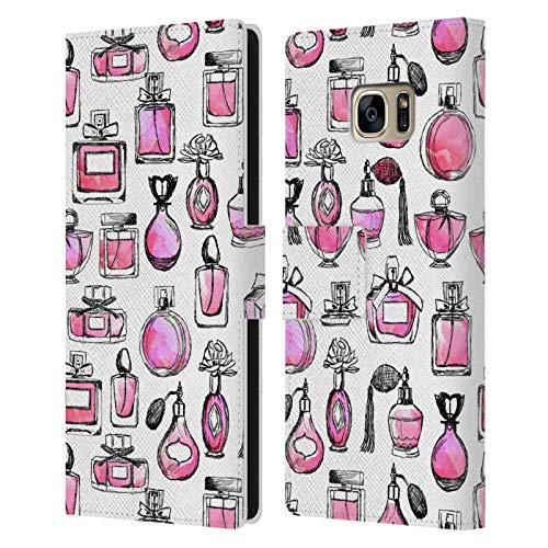 Head Case Designs Licenciado Oficialmente Andrea Lauren Design Perfumes Lady Like Carcasa de Cuero Tipo Libro Compatible con Samsung Galaxy S7 Edge