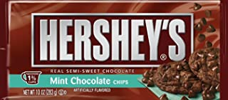 Hershey's Mint Chocolate Baking Chips 10oz Bag (Pack of 6)