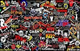 MaiQidd Rock Bands Jigsaw Puzzles for Adults 500 Pieces, Greatest Rock Albums Unique Puzzle Top Rock Band Logo 500 Pieces Puzzles Gift for Music Lovers(500pcs)