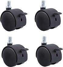 4 stks Meubilair Caster, 1,5/2 inches met remvergrendeling Universeel wiel, met schroefstang (8mm), nylon, kastafel Castor...