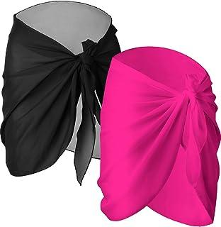 f563ee8c35 2 Pièces Wrap de Plage de Femmes Sarong Couverture de Bikini Jupes Wrap  pour Maillot de