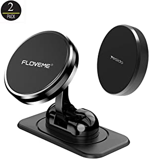 MAOBLOG Magnetic Phone Car Mount 2 Pack Multifunction 3M Adhesive Base Dashboard Mini Strong Magnet Holder Fast Capture Cradle for iPhone Xs/XR/X / 8/7,Samsung Galaxy S9 / S8/S7 and All Phones.
