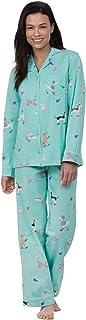PajamaGram Womens Pajamas Boyfriend Style - Womens Cotton Pajamas