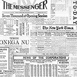 20 tovaglioli con messaggi dal giornale, vintage, 33 x 33 cm