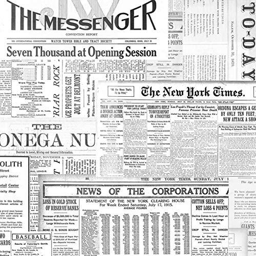 20 Servietten Nachrichten aus der Zeitung | Vintage | Decoupage 33x33cm