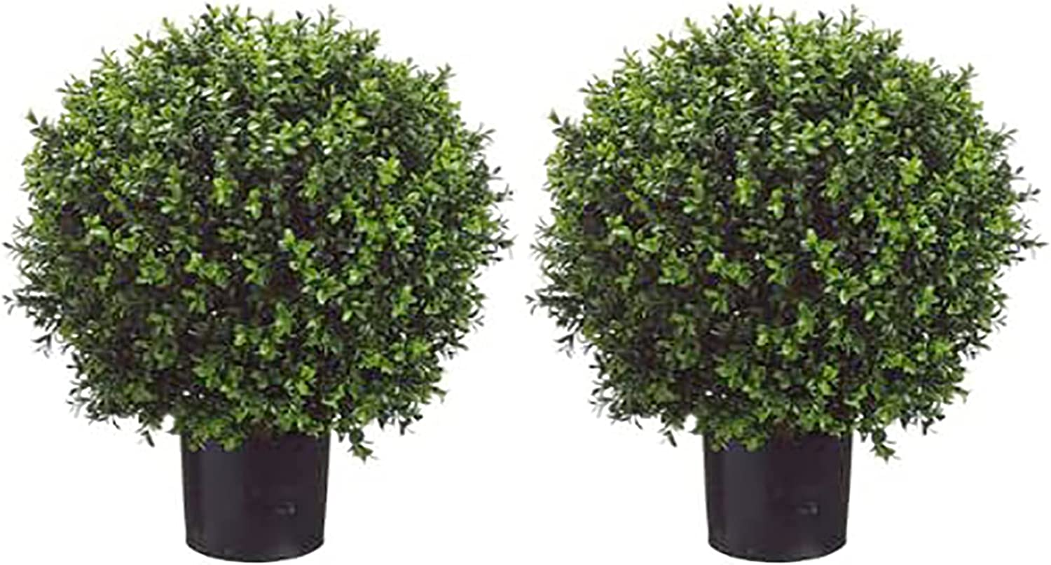 Virginia Beach Mall Artificial Boxwood Cheap mail order shopping Topiary Ball Plants Green Silk Potted