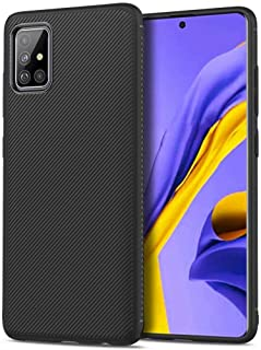 Lenuo Samsung Galaxy A51 Case Rubber Striped Black
