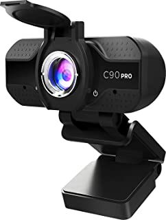 ATPro 1080p Webcam with Microphone for Desktop or Laptops, USB HD Plug and Play Computer Web...