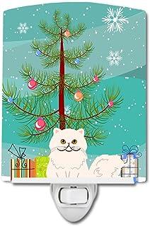 Caroline's Treasures Persian Cat Merry Christmas Tree Ceramic Night Light, 6x4, Multicolor