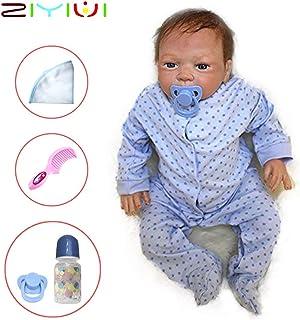 ZIYIUI Reborn Muñecas Bebé Suave Vinilo de Silicona 20