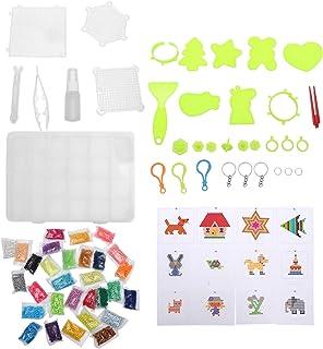 ULTNICE 1 Set of Water Fuse Beads Kit 30 Colors 6000pcs Fusion Colored Beads DIY Art Craft Iron Perler Beads Set for Kids