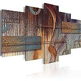 murando Cuadro en Lienzo 225x112 cm Abstracto Impresión de 5 Piezas Material Tejido...