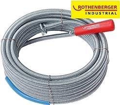 Rothenberger Industrial 072986E - Desatascador en espiral con cabeza de enganche (longitud 10m), color gris