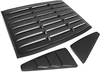 For Ford Mustang Coupe 3Pcs Vintage Style Rear + L/R Quarter Side Window Louvers Sun Shade Cover