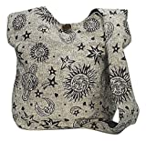 Celestial Cross Body Shoulder Bag Purse in Gray by Original Collections