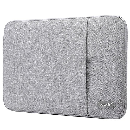 Lacdo 11-12 Zoll Wasserdichte Laptop Sleeve Hüllen Notebook Tasche für MacBook Air 11.6 Zoll/New Macbook/Surface Pro 4 3/Acer, Asus, Dell, HP, Chromebook Ultrabook,Tablet,Grau
