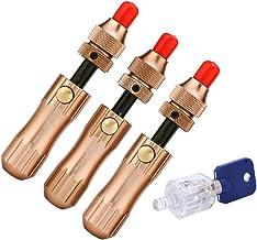 Loboo Idea 3 Stuk Koper Tubular Lock Pick Set en 7 Pin Transparant Tubular Lock voor Beginner en Pro Slotenmakers (GOSO, B...