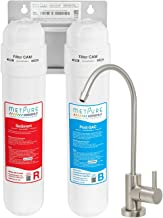 Metpure Versatile Under Sink Water Filter System | 2 Stage Quick Easy Change Twist Filtration System | Water Purifier For Clean Drinking Water & Simple Set Up | Removes Chlorine Bad Taste & Odor