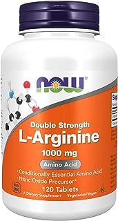 NOW Foods Supplements, L-Arginine 1,000 mg, Nitric Oxide Precursor, Amino Acid, 120 Tablets