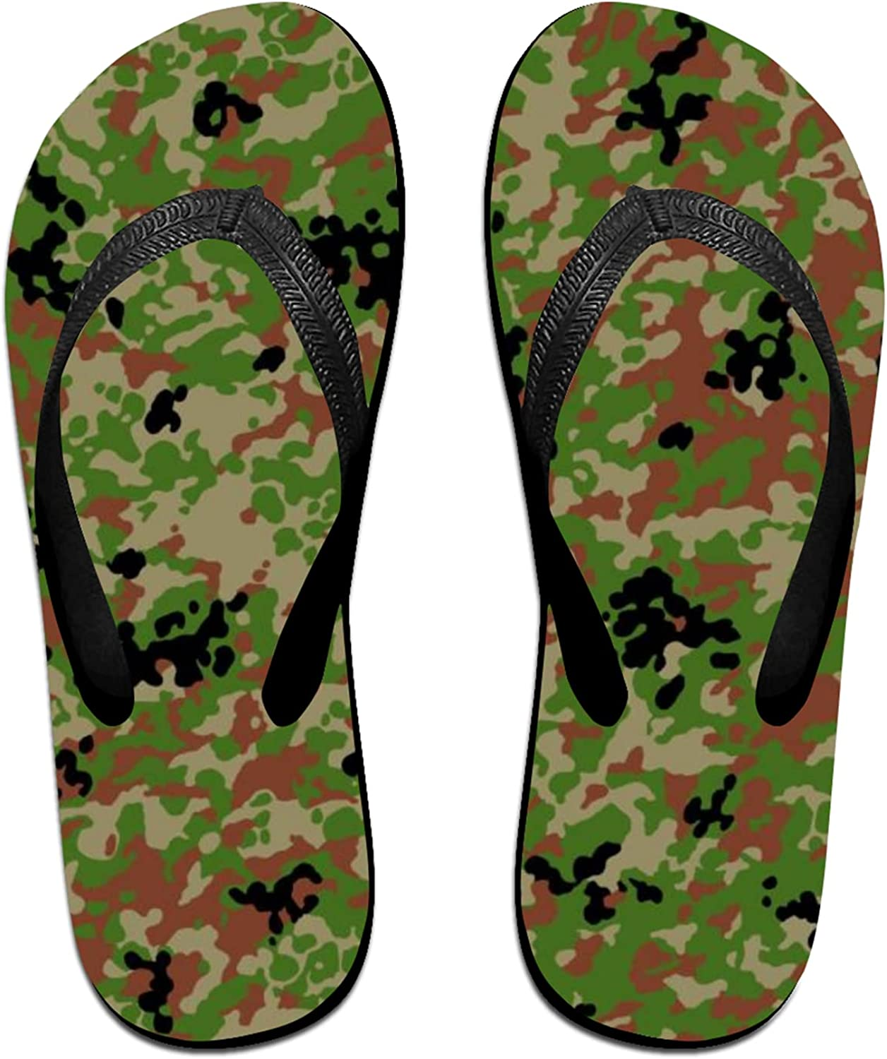 Classic Camo Camouflage Flip-Flop Sandals for Summer Beach, Slippers for Men Women