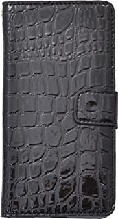 PLATA Xperia Z4 ケース 手帳型 SO-03G / SOV31 / 402SO クロコダイル レザー スタンド ケース 手帳 カバー XperiaZ4 エクスペリアZ4 【 ブラック 黒 くろ black 】 DSO03G-52BK