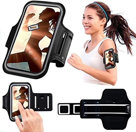 DN-Technology ONEPLUS 7 PRO Armband, Sports Running Armband Case with + Key Holder Slot for Gym Running,Workout and Exercise, Jogging, Cycling for Oneplus 7 Pro Armband Case (Black)