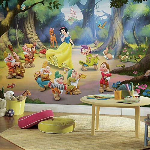 RoomMates Disney Princess Snow White And The Seven Dwarfs Removable Wall Mural - 10.5 feet X 6 feet
