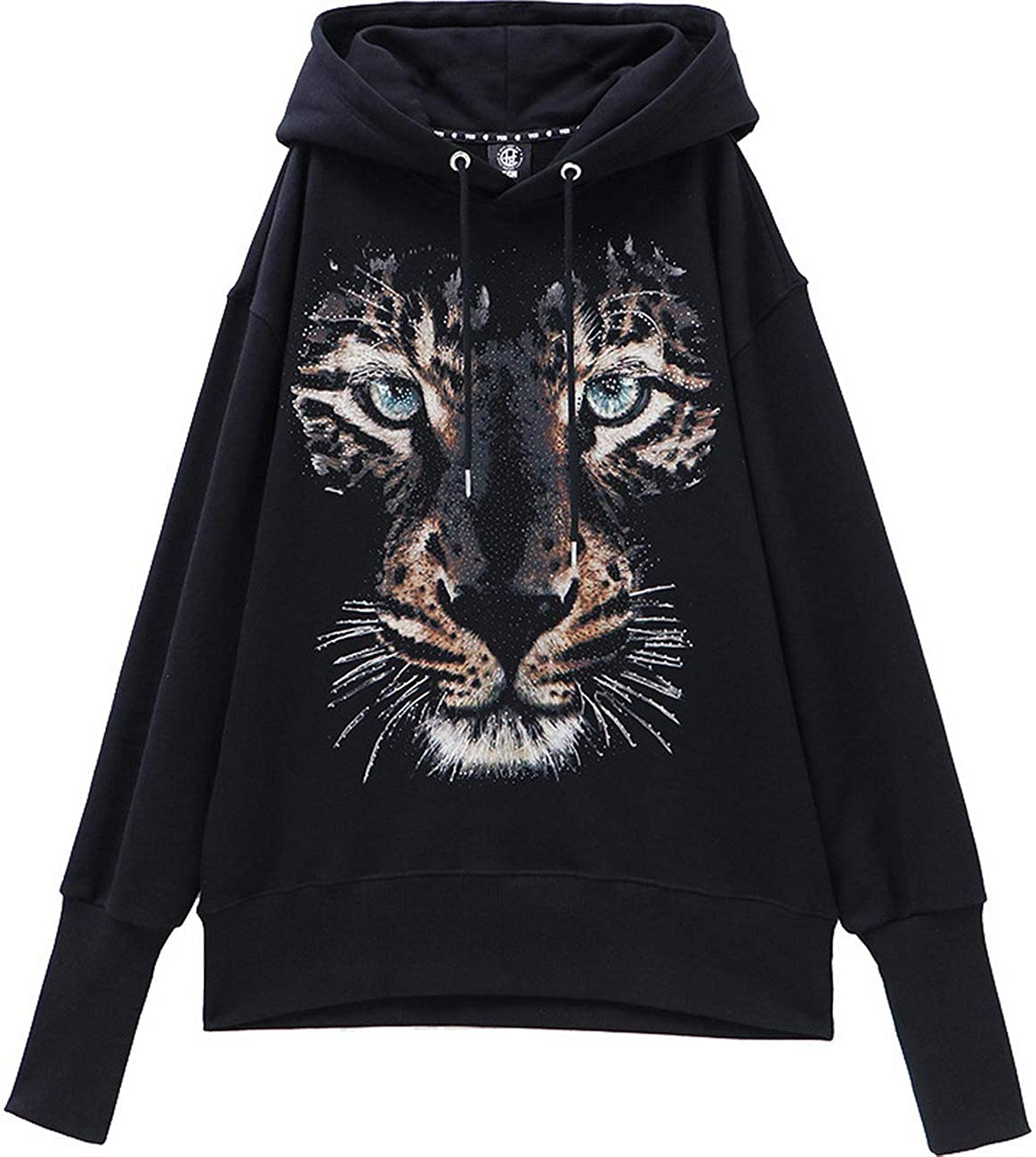 Light Luxury Tide Brand Big C hot Beads of Street Shooting Style Hooded Pullover Sweater T194126058