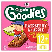 Organixは、有機ラズベリー&リンゴシリアルバーを6×30グラムをグッズ (x 6) - Organix Goodies Organic Raspberry & Apple Cereal Bars 6 x 30g (Pack of 6) [並行輸入品]