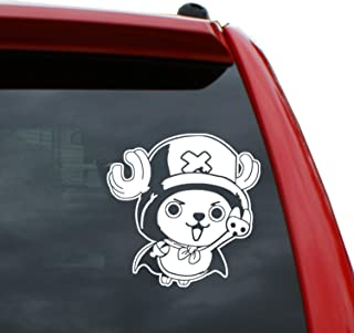 Black Heart Decals & More One Piece/Tony Chopper Vinyl Decal Sticker | Color: White | 5