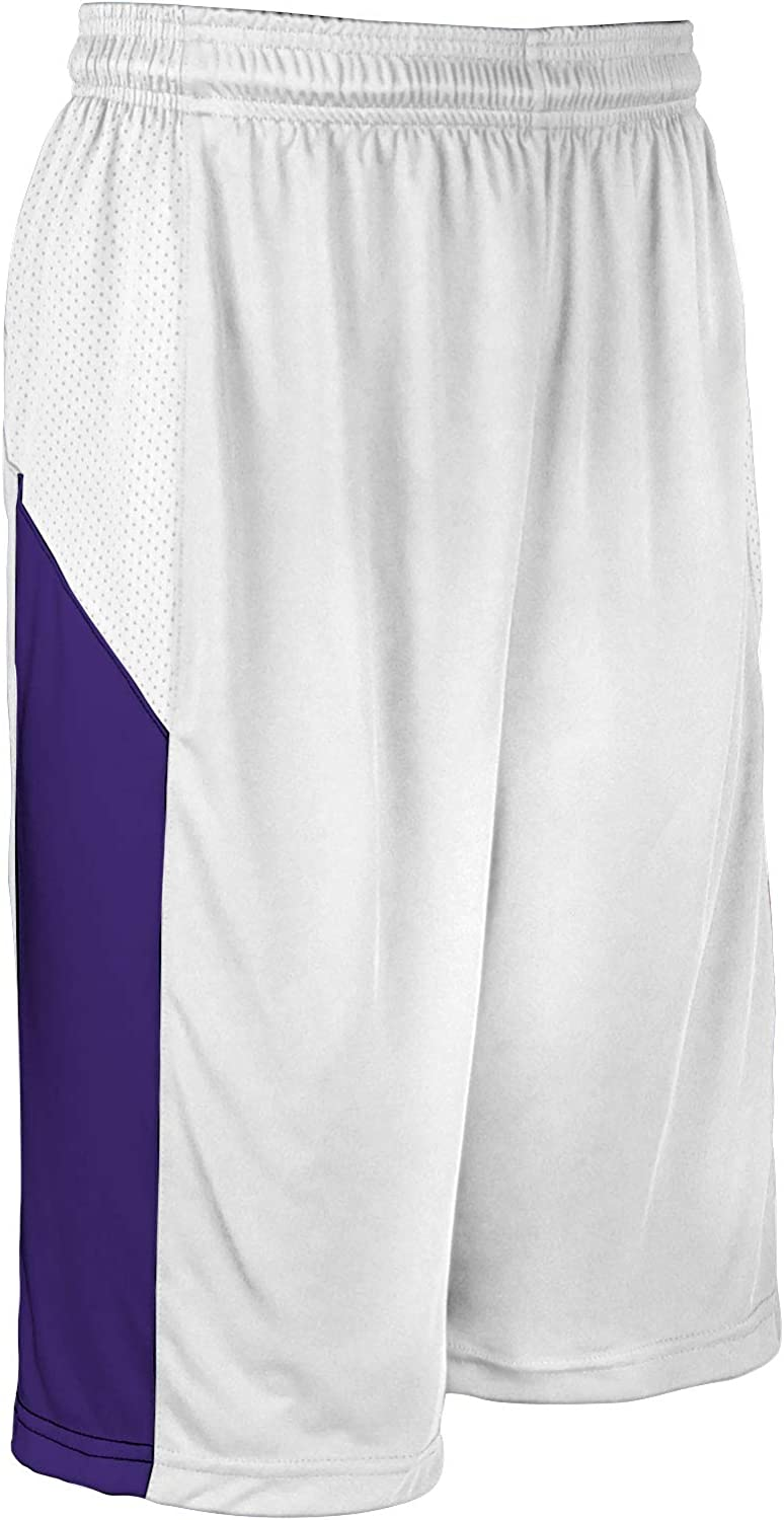 CHAMPRO Charge Polyester Basketball New sales Adult White Cheap mail order specialty store X-Large Short