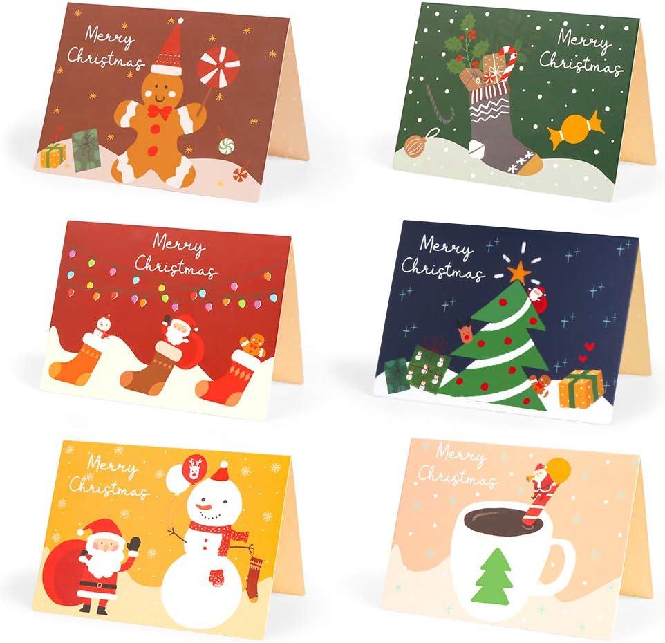 Immagini Di Natale Per Amici.Amici E Colleghi A Cartoline Di Natale Biglietti Auguri Natale 24 Biglietto Auguri Natale Con Buste E Adesivi Da Busta Auguri Natalizio Carte Cartolina Di Natale Per Salutare Familiari Carta Blocchi E