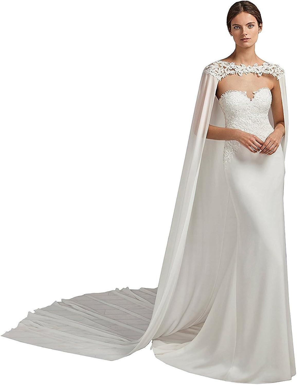 EllieHouse Women's Lace Wedding Cloak Bridal Cape S21