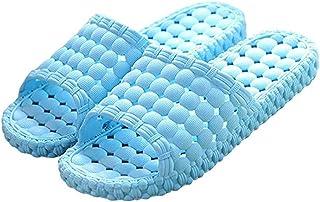 Blue Sea Women/Men Shower Sandal Slippers Quick Drying Bathroom Slippers Gym Slippers Soft Sole Open Toe House Slippers Shower Solid Slide-on Slippers Poolside Shoes women 8.5-9.5/men 7.0-8.0 Blue