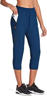 BALEAF EVO Women's Lightweight Jogger Capris Athletic Hiking Running Cropped Pants Zipper Pockets