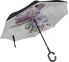 umbrella with roses on edge
