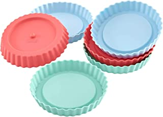 Lurch Germany Flexiform Silicone Mini Round Tartlet Molds - Set of 6 - Pink/Green/Blue