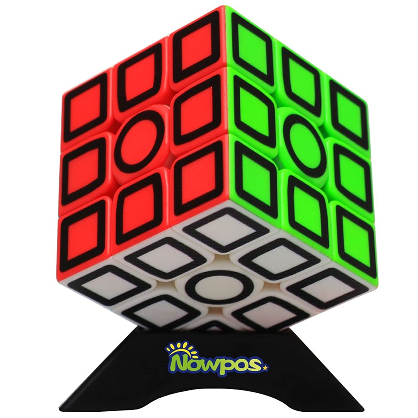 Nowpos 3x3x3 Speed Cube Puzzle Carbon Fiber Fast Smooth Twist Stickerless Magic Speed Smart Cube Puzzle Toys for Kids Boys Girls