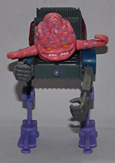Vintage Krang with Chair (1989) - Playmates Action Figure - TMNT Doll Toy - Loose Out of Package & Print (OOP)