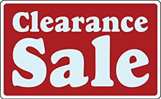 Clearance Sale Business Sign Retail Store Discount Promotion Message