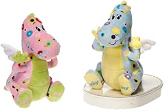 """8"""" PINK & Green PLUSH Baby DRAGON for INFANT GIRL/Newborn Gift/It's A GIRL!"""