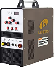Lotos TIG200ACDC 200A AC/DC Aluminum Tig Welder with DC Stick/Arc Welder, Square Wave Inverter with Foot Pedal and Argon R...