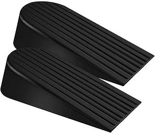 Sponsored Ad - Big Door Stopper 2 Packs Heavy Duty Wedge Rubber Door Stop Works on All Floor Surfaces Height up to 1.9 Inc...